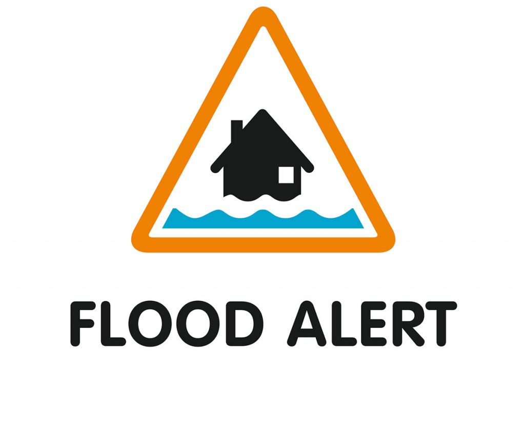 Flood Alert Warning Symbol