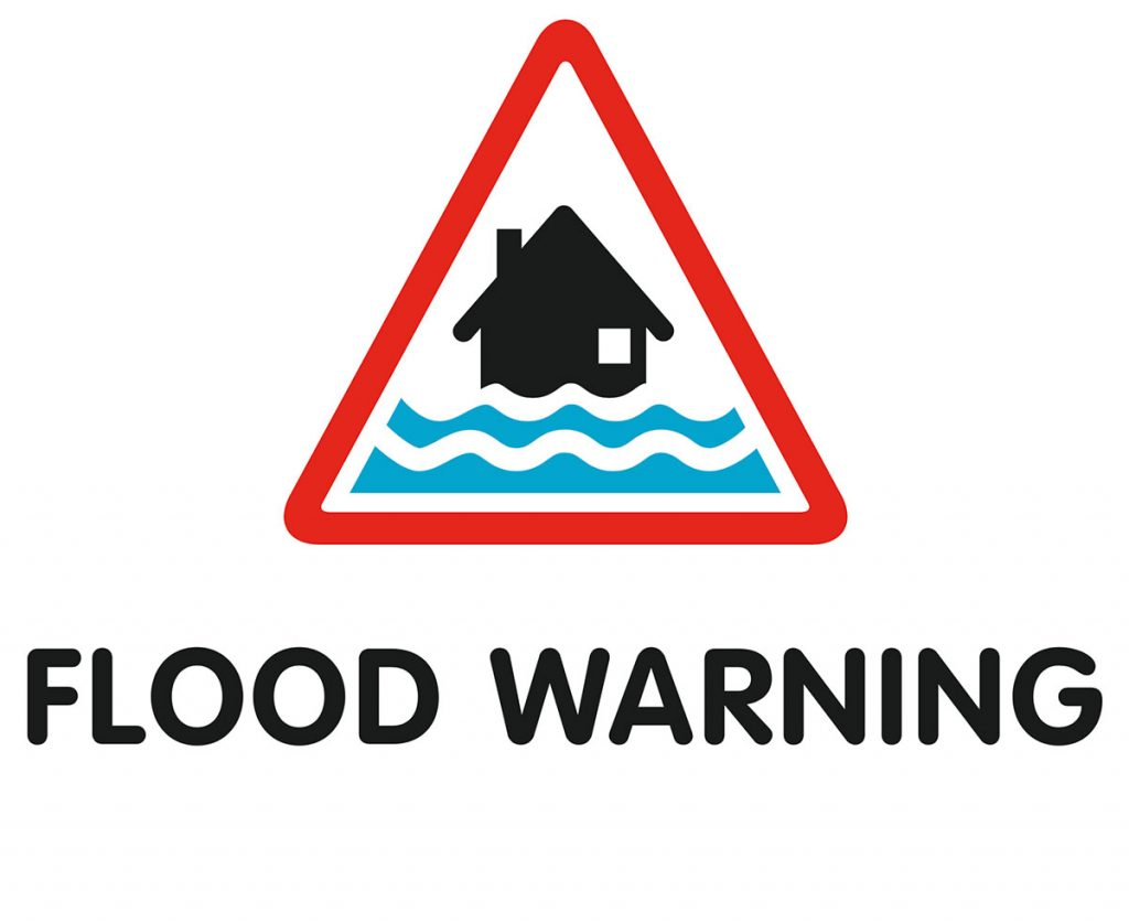 Flood Warning Alert Symbol